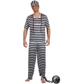 Mens Prison Break Convict - Budget Costume (Cops/Robbers)