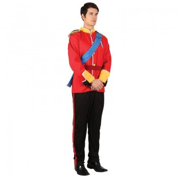 Mens Handsome Prince Fairy Tales Outfit (Red, Black)