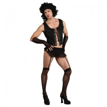 Mens Funny Rock Guy (No Wig) Film Outfit (Black)