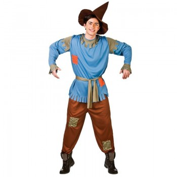 Mens Oz Yellow Brick Scarecrow Charater Fancy Dress Costume