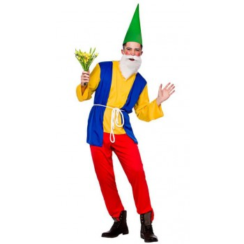 Mens Character Funny Gnome Fancy Dress Costume
