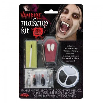 Vampire Make Up Kit With Fangs Fancy Dress