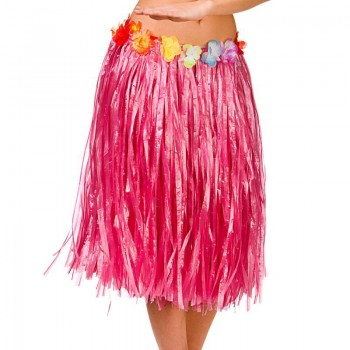 Pink Hawaiian Hula Skirt 60Cm Fancy Dress Accessory