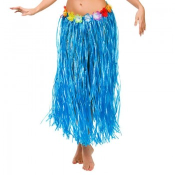 Blue Hawaiian Hula Skirt 80Cm Fancy Dress Accessory