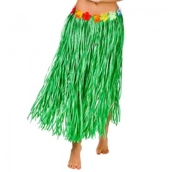 Green Hawaiian Hula Skirt 80Cm Fancy Dress Accessory