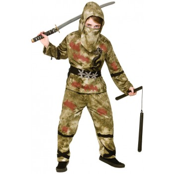 Boys Zombie Ninza Halloween Fancy Dress Costume