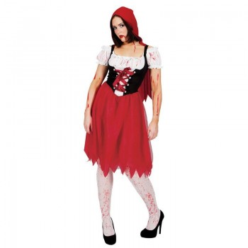 Ladies Blood Red Riding Hood Halloween Fancy Dress Costume