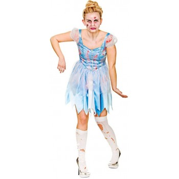 Ladies Cinders After Dark Halloween Fancy Dress Costume