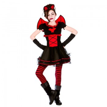 Girls Little Vamparina Halloween Fancy Dress Costume