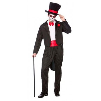 Mens Day Of The Dead Senor Halloween Fancy Dress Costume