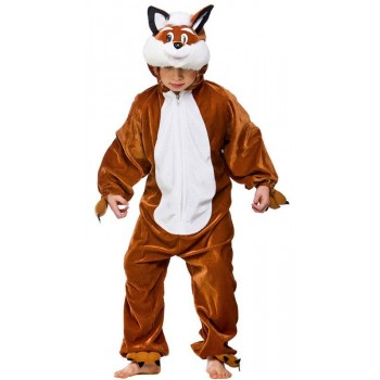 Childs Unisex Fantastic Fox Animal Outfit - (Brown)