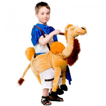 Childs Unisex Ride On Camel Animal Outfit - One Size (Gold)