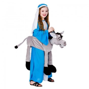 Childs Unisex Ride On Grey Donkey Animal Outfit - One Size (Grey)