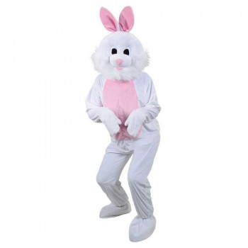Adult Unisex Mascots - Bunny Rabbit Animal Outfit - One Size (White)