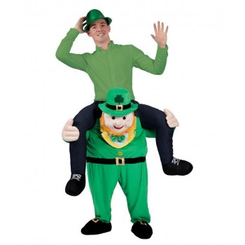 St Patricks Carry Me Mascot Leprechaun Fancy Dress Costume
