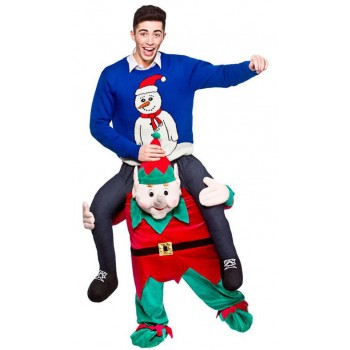 Christmas Elf/Helper Carry Me Mascot Fancy Dress Costume