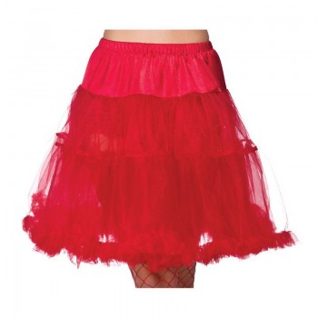 """Ladies 22"""" Ruffle Petticoats - Red - (Red)"""
