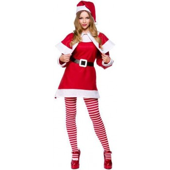 Ladies Budget Mrs Santa Claus Christmas Fancy Dress Costume