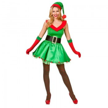 Ladies Santas Sexy Lil' Helper Christmas Fancy Dress Costume