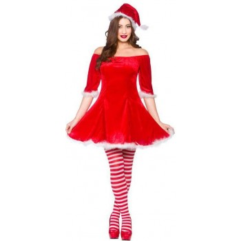 Ladies Sweet Santa Christmas Fancy Dress Outfit