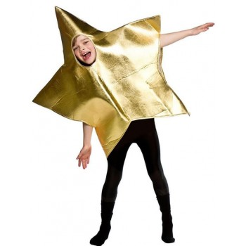 Childs One Size Nativity Gold Star Fancy Dress Costume