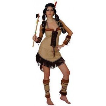 Native American Princess Fancy Dress Costume Ladies (Cowboys/Native Americans)