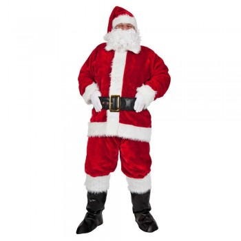 Regal Plush Professional 8pc Santa Outfit Plus Size Costume