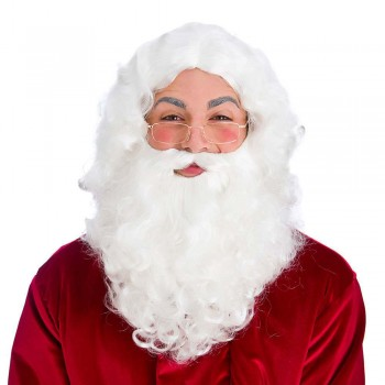 Deluxe Santa Set Wig, beard & glasses Wigs