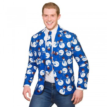 Christmas Jacket & Tie - Snowman Fancy Dress Costume