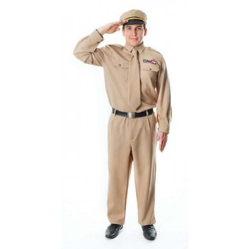 Ww2 Army General Fancy Dress Costume