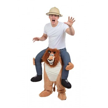 Lion Piggy Back Fancy Dress Costume