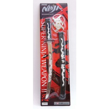 Ninja Sword Set (Ninja Fancy Dress Swords/Knives)