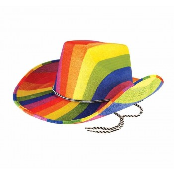 Rainbow Cowboy Hat Fancy Dress Accessory