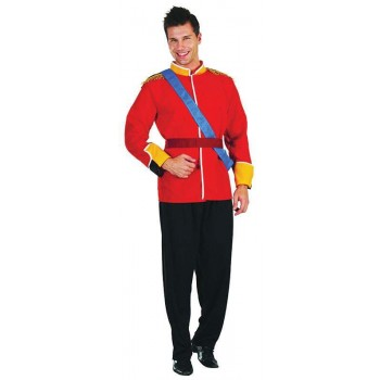 Mens Prince (Royal Family) Royal Outfit - One Size (Red, Black)