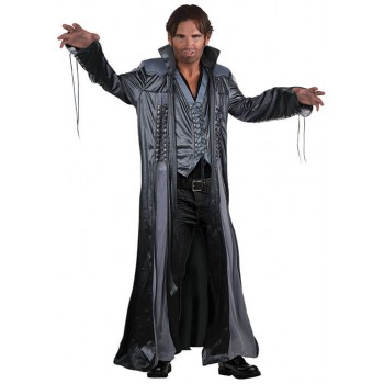 Mens Grey Modern Wizard/Warlock Fancy Dress Costume