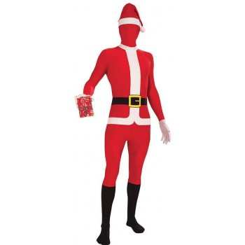 Adults Santa Suit Disappearing Man Christmas Fancy Dress Costume
