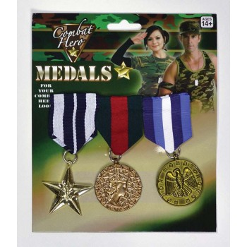 Military Medals (3 Pieces) Accessories