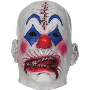 Adults Horror Zipper Clown Mask Halloween Fancy Dress Accessory