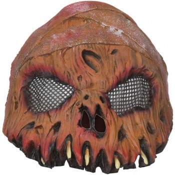 Adults Horror Pumpkin Half Mask Halloween Fancy Dress Accessory