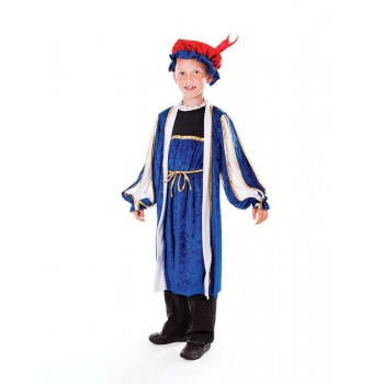 Boys Tudor Boy, With Hat (128Cm) Tudor Outfit - One Size (Blue)