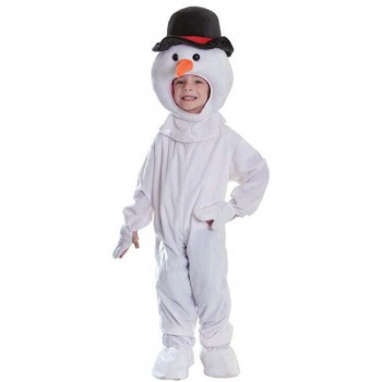 Childs Plush Snowman Fancy Dress Costume