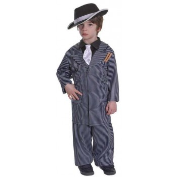 Boys 1920S Mafia Gangster Fancy Dress Costume