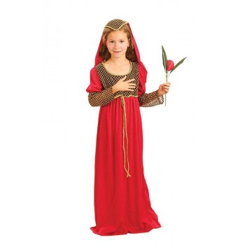 Girls Juliet Medieval Outfit - (Red)