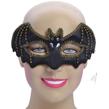 One Size Bat Style Eye Mask Fancy Dress Accessory