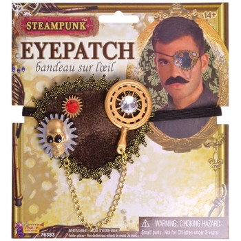Adults Steampunk Eyepatch Fancy Dress Accessory