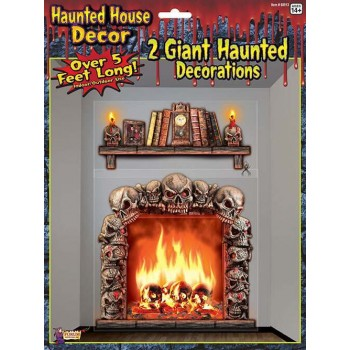 2pk Haunted House Giant Wall Halloween Decorations.