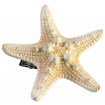 Ladies Mermaid Starfish Hairclip Fancy Dress Accessory