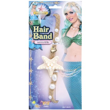 Ladies Starfish & Pearl Mermaid Headband Fancy Dress Accessory