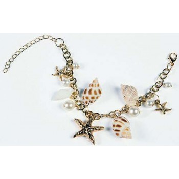 Ladies Sea Shell Mermaid Bracelet Fancy Dress Accessory