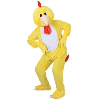 Adult Unisex Mascots - Funky Chicken Animal Outfit - One Size (Yellow)
